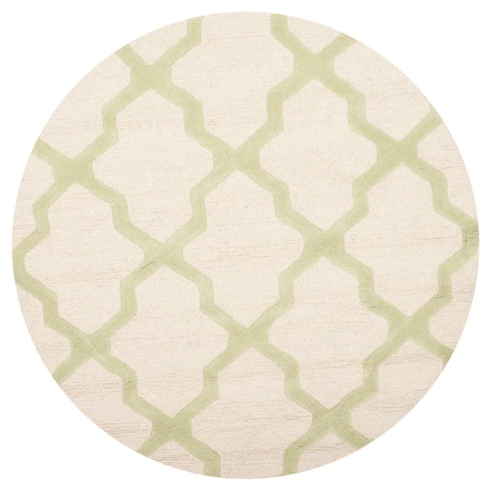 Maison Accent Rug - Ivory/Light Green (4' Round) - Safavieh