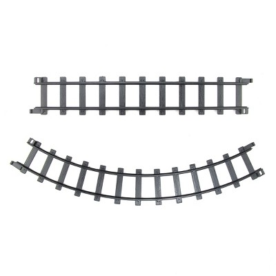 "Northlight Pack of 12 Black Replacement Train Set Track Pieces - 1.5"" x 12"""