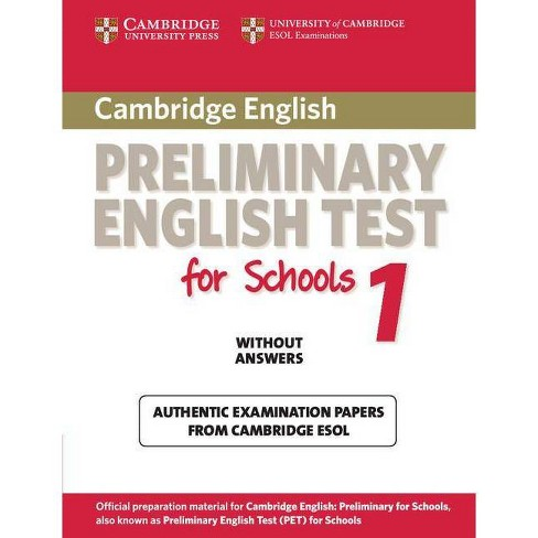 Cambridge Preliminary English Test for Schools 1 Student's Book Without Answers - (Pet Practice Tests) - image 1 of 1