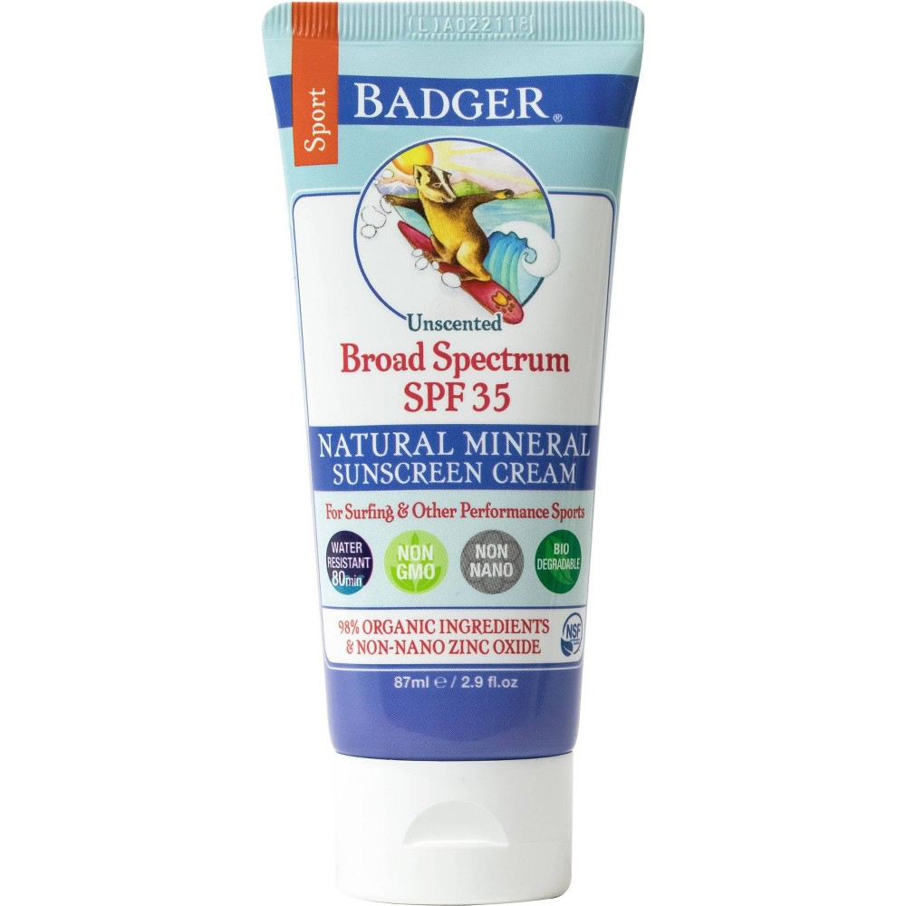 Image of Badger Sport Broad Spectrum Sunscreen - SPF 35 - 2.9oz