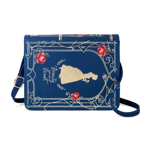 Girls' Disney Beauty and the Beast Book Purse - Blue - image 1 of 1