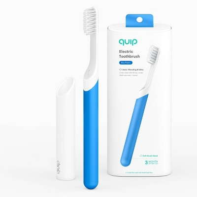 quip Plastic Electric Toothbrush Starter Kit - 2-Minute Timer + Travel Case