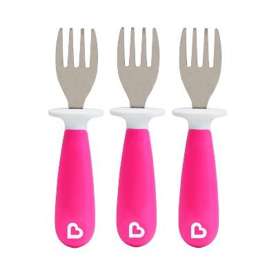 Munchkin 3pk Raise Toddler Forks Pink