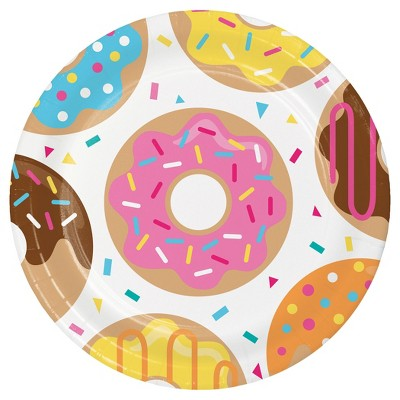 """Donut Time 9"""" Paper Plates - 8ct"""