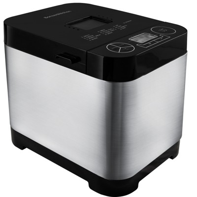 Bonsen 1.5 Pound Loaf 13 Setting Programmable Automatic Countertop Bread Maker Dough Kneader Machine for 1.5 Pound Loaves, Jam, Pizza, and Pie, Silver