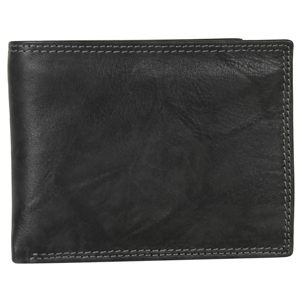 Image of Buxton Men's Hunt Credit Card Billfold Wallet - Black, Men's, Size: Small
