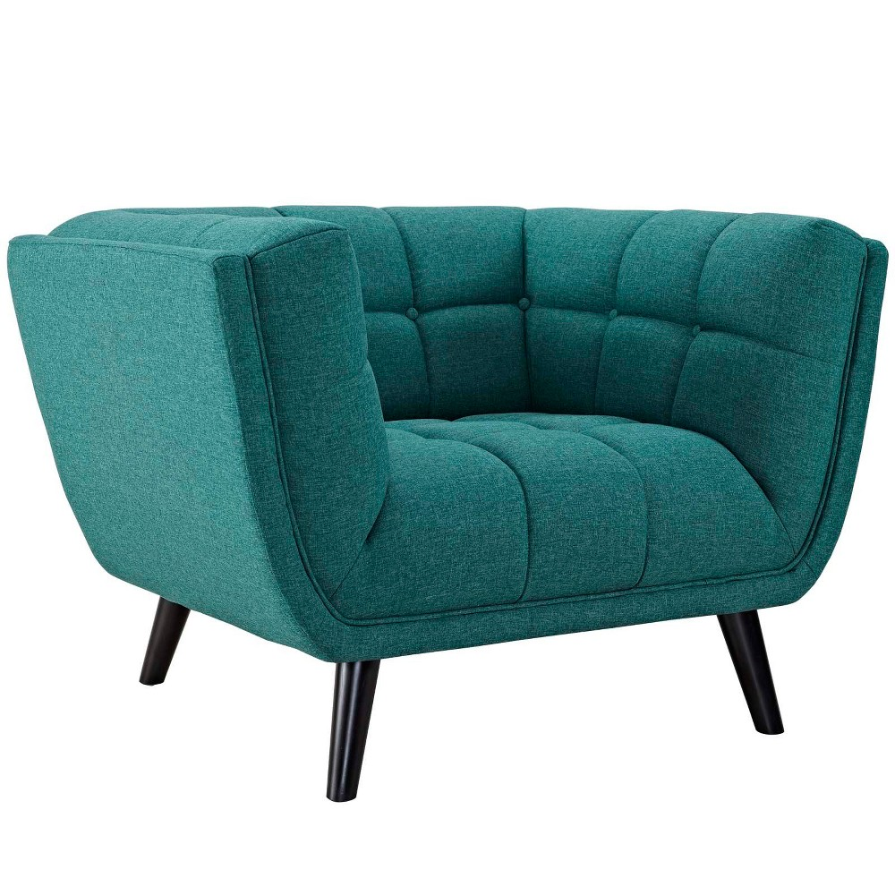 Bestow Upholstered Fabric Armchair Teal (Blue) - Modway