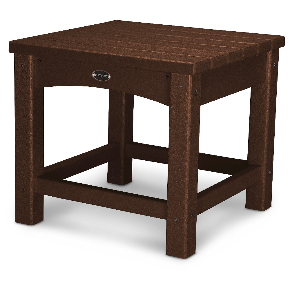Polywood Vineyard 18 Side Table - Mahogany (Brown)