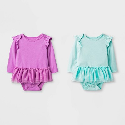 Baby Girls' 2pc Tutu Bodysuit - Cat & Jack™ Purple/Teal 6-9M
