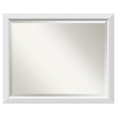 "32"" x 26"" Blanco White Framed Wall Mirror - Amanti Art"