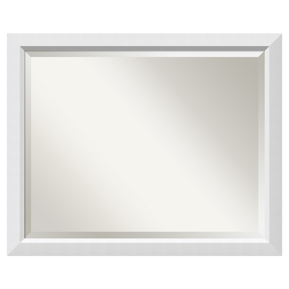 "Image of ""Bathroom Mirror Large Cabinet, (31"""" x 25"""") Blanco White"""