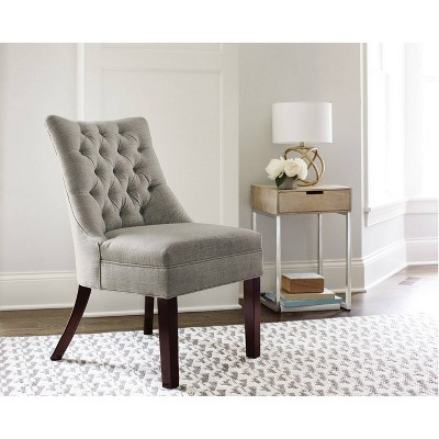Winslow Tufted Back Chair Light Gray - Threshold™