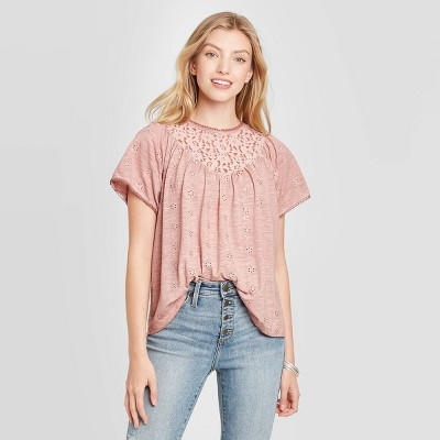 Women's Flutter Short Sleeve Blouse - Knox Rose™