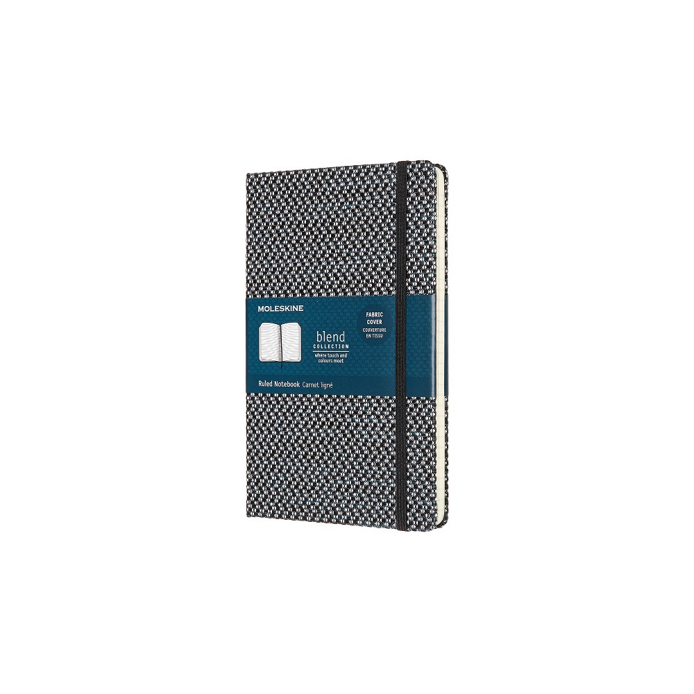Moleskine Patterned Lined Journal with Elastic Closure Black/White