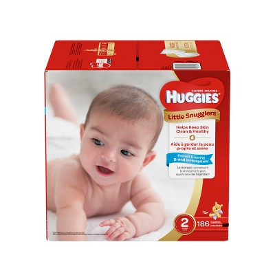 Huggies Little Snugglers Diapers - Size 2 (186ct)
