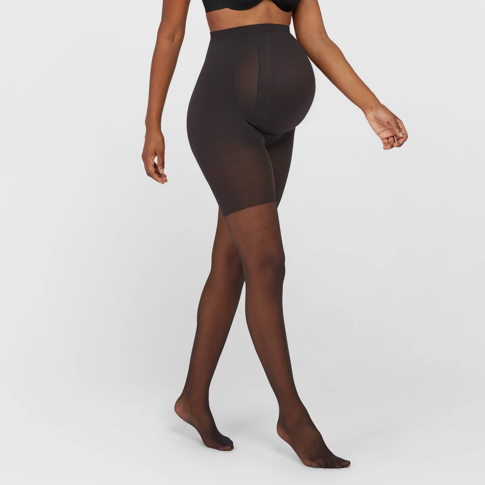Image of Assets by Spanx Maternity Perfect Pantyhose - Black 2, Women's