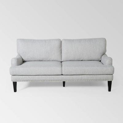 Auriga Contemporary Loveseat Light Gray - Christopher Knight Home