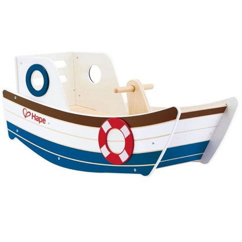 Hape High Seas Early Explorer Wooden Rocker Rocking Ride On Toddler Toy Boat - image 1 of 4