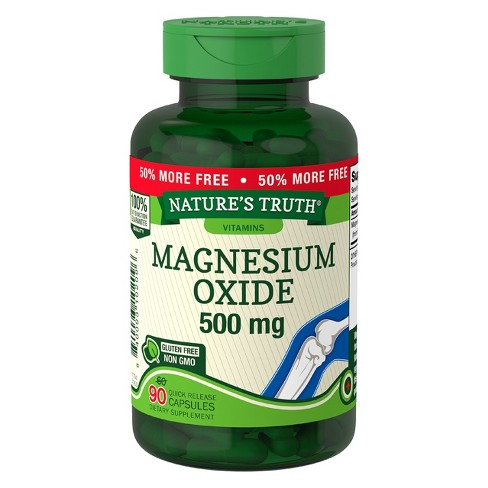 Nature's Truth Magnesium Oxide Dietary Supplement Quick Release Capsules - 90ct - image 1 of 1