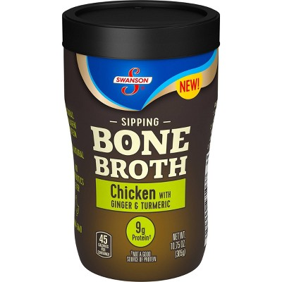 Swanson Sipping Bone Broth Chicken with Ginger & Turmeric - 10.5oz