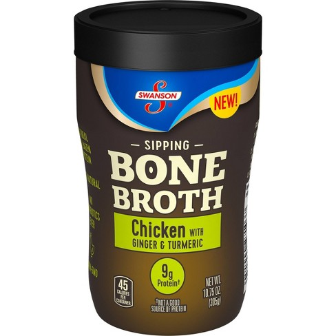 Swanson Sipping Bone Broth Chicken with Ginger & Turmeric - 10.5oz - image 1 of 4