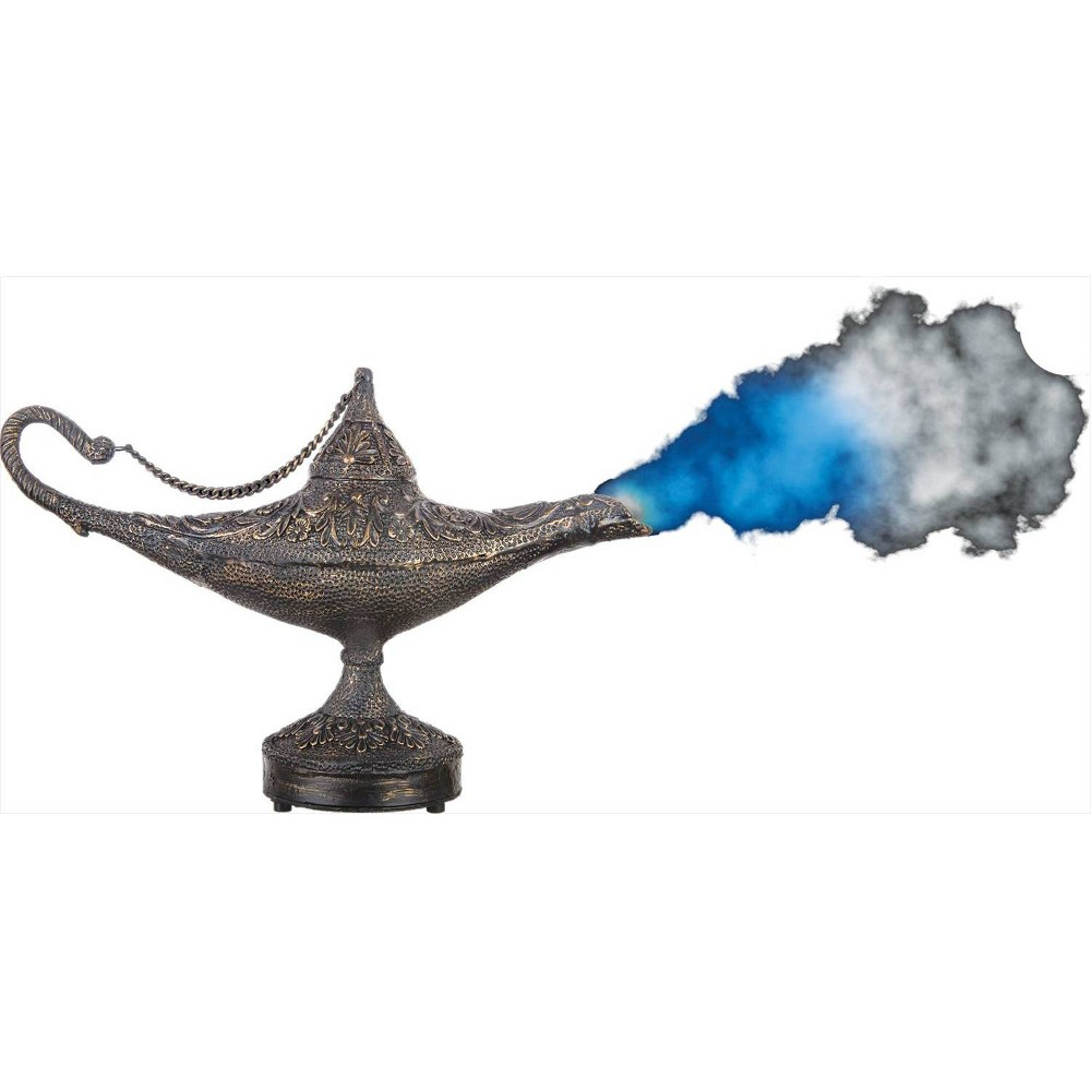 "Image of ""13"""" Halloween Magic Genie Lamp With Mist"""