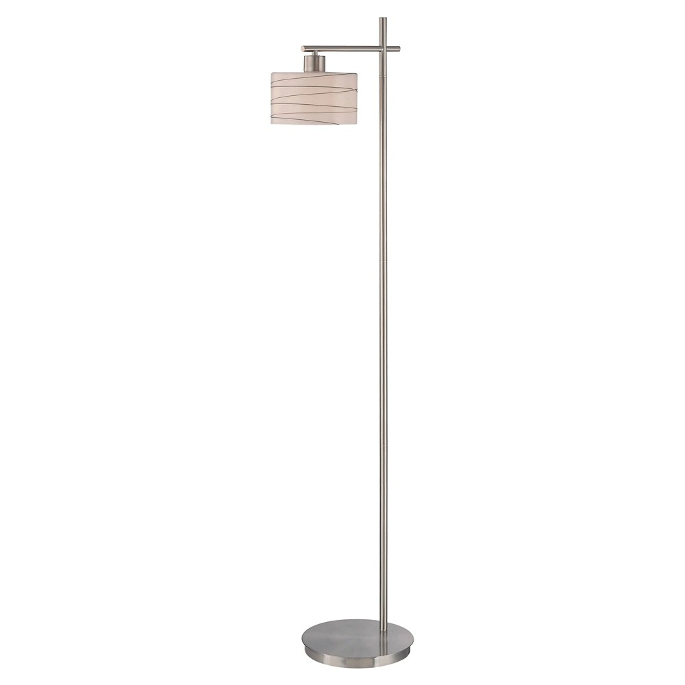 Lite Source Lenza 1-LT Floor Lamp - Polished Steel (Silver) (Lamp Includes Energy Efficient Light Bulb)