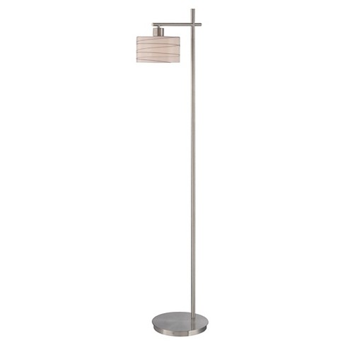 Lite Source Lenza 1-LT Floor Lamp - Polished Steel (Lamp Includes Energy Efficient Light Bulb) - image 1 of 1