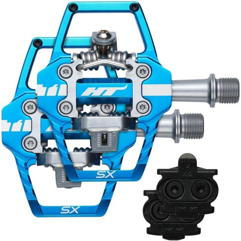 HT T1-SX BMX-SX Blue Pedals Dual Sided Clipless with Platform Aluminum 9/16 - image 1 of 2