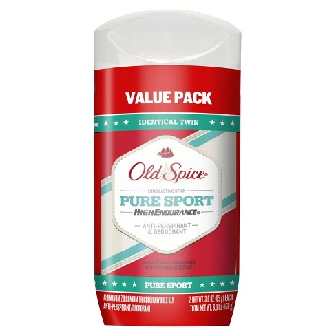 Old Spice High Endurance Pure Sport Invisible Solid Antiperspirant and Deodorant Twin Pack - 6oz - image 1 of 2