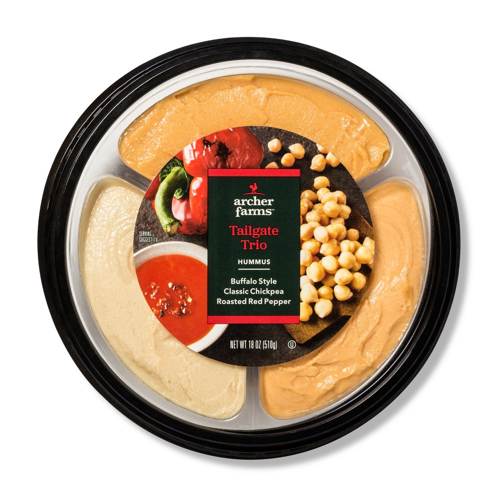 Tailgate Trio Hummus Tray - 18oz - Archer Farms