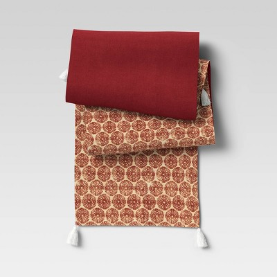 Cotton Medallion Table Runner Red - Threshold™