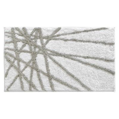 Abstract Rug (34x21 )Stone/White - iDESIGN