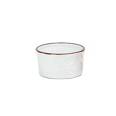 Omniware White Stoneware 8 Ounce Embossed Ramekin