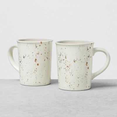 2pk Stoneware Mug Speckled Sour Cream - Hearth & Hand™ with Magnolia