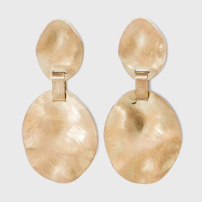 Worn Gold Discs Statement Earrings - A New Day™ Gold