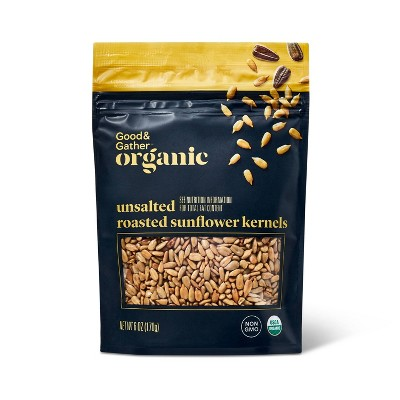 Organic Unsalted Roasted Sunflower Kernels - 6oz - Good & Gather™
