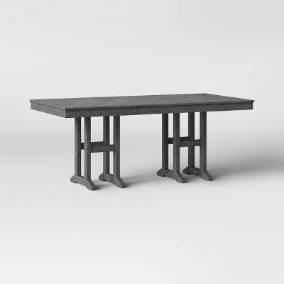 """Moore POLYWOOD 35"""" x 70"""" Farmhouse Rectangle Patio Dining Table - Project 62™"""