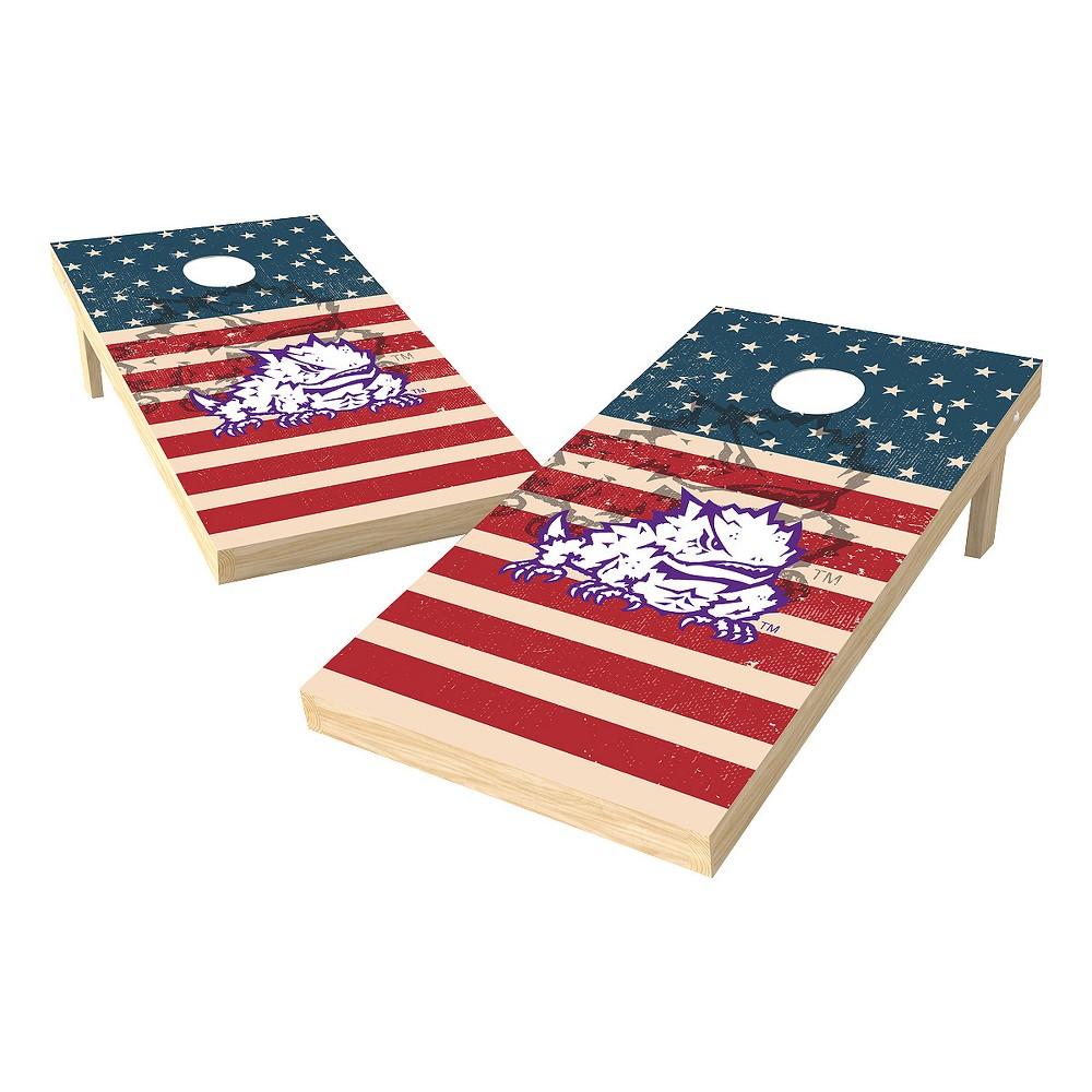 NCAA 2x4 Authentic Cornhole College Tcu Horned Frogs Sas Worn Shadow Design