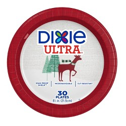 "Dixie Ultra 8.5"" Holiday Paper Plates - 30ct"