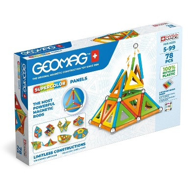 Geomag Supercolor Magnetic Sticks and Balls Building Set Classic 78pc