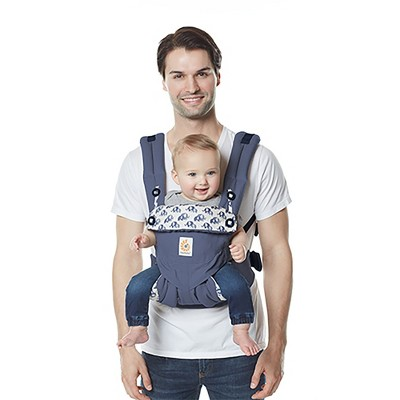 Ergobaby 360 All Carry Positions Ergonomic Baby Carrier - Elephant Dance