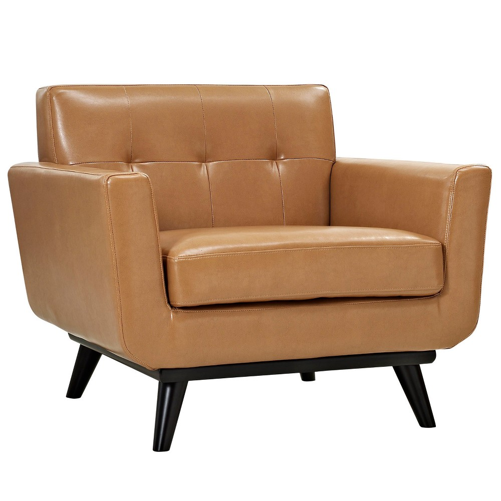 Engage Bonded Leather Armchair Tan - Modway
