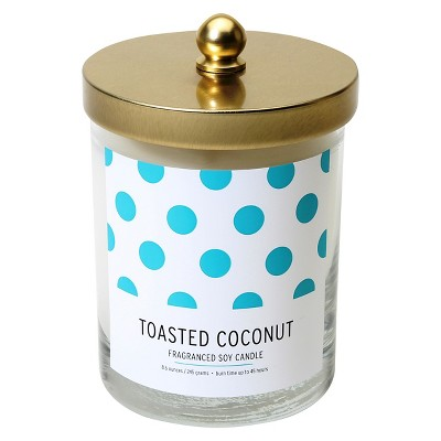 Lidded Glass Candle Toasted Coconut 8.6oz - Soho Brights