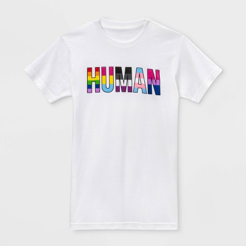 Pride Gender Inclusive Adult Human Graphic T-Shirt - White - image 1 of 1