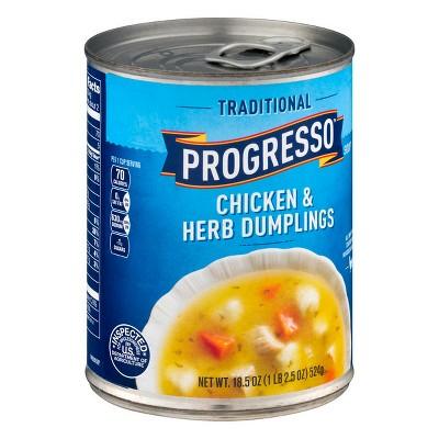 Progresso Traditional Chicken & Herb Dumpling Soup - 18.5oz
