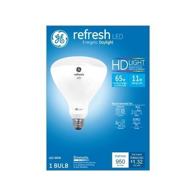 General Electric 65W Ca Refresh LED Light Bulb Dl BR40 Dimming Long Life