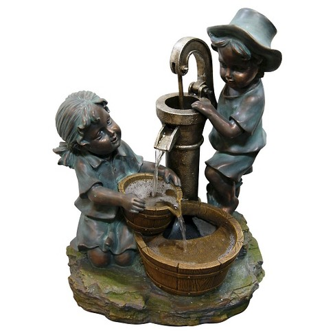 20 Outdoor Water Fountain Bronze Alpine Corporation