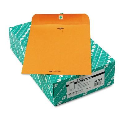 Quality Park Clasp Envelope 9 x 12 32lb Brown Kraft 100/Box 37790