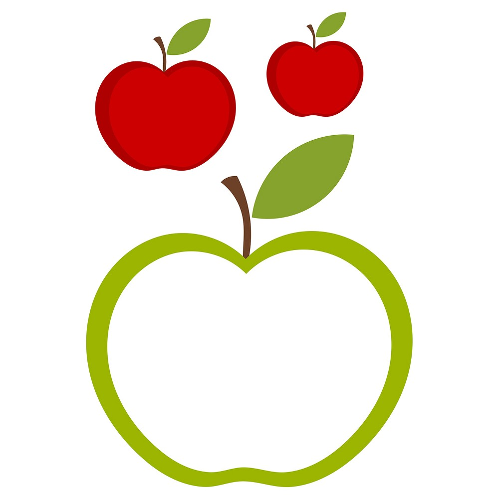 DecorlineDry Erase Board Decal - Apples, Red